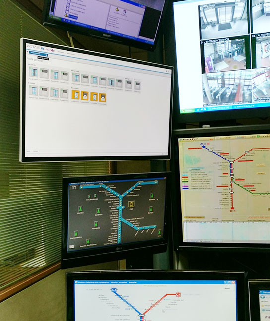 REMOTE CONTROL SYSTEM FOR OPENING AND CLOSURE IN STATIONS